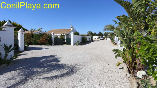 Son varias las casitas en el Palmar, todas con jardin privado.