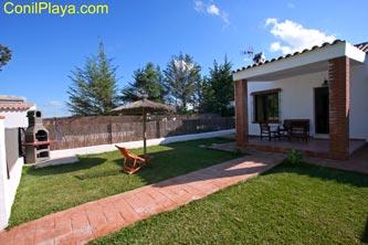 Jardín de la casa en El Palmar