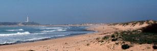 Playa de Mari Sucia o Baradero, en Los Caños de Meca, Barbate.