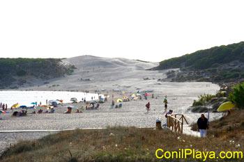 Dunas de la playa de Bolonia.