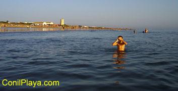 Playa ideal para los niños, dada su poca profundidad.