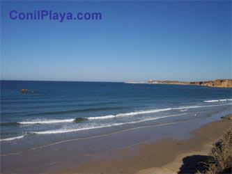 Vista de la playa desde la urbanizacion.