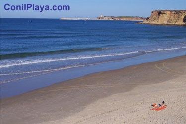 Playa de la Fuente del Gallo, a la altura del hotel Flamenco.