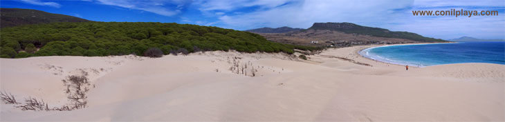Paronámica de la playa de Bolonia.