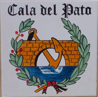Azulejo de la Cala del Pato.