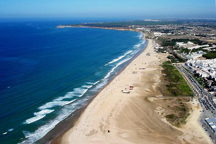 La playa de Los Bateles a vista de Pájaro.
