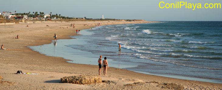 Playa de El Palmar el 24 de septiembre de 2009.