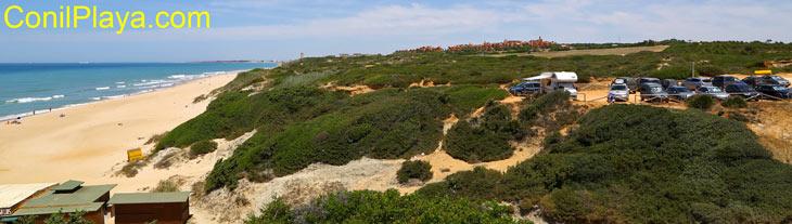Playa de el Puerco, zona de aparcamiento