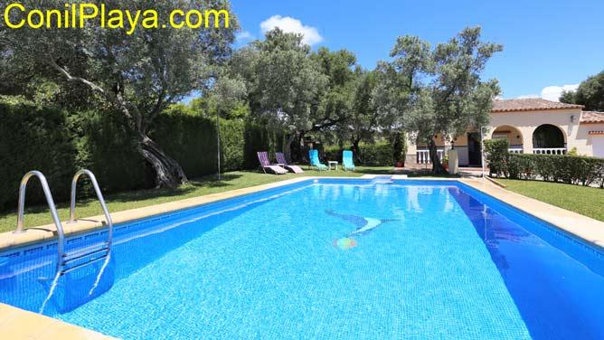 chalet en Vejer con piscina privada