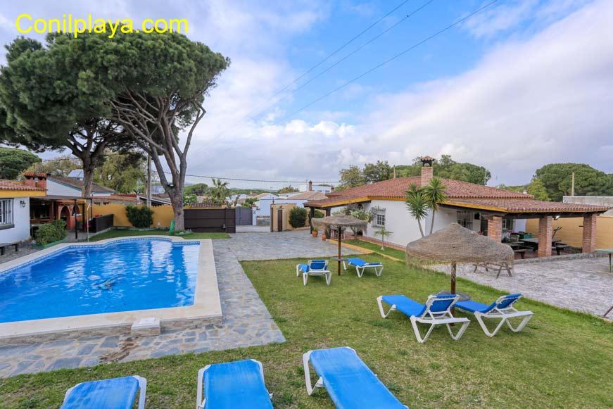 Chalet con piscina en alquiler cerca de Barbate y Vejer