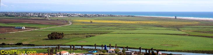 Vista del Palmar de Vejer y del prado de Conil de la Frontera. 11 de Abril de 2009.