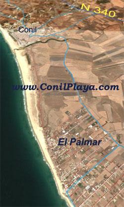 Vista aerea de El Palmar.