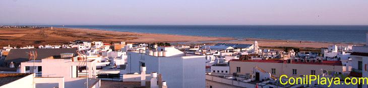 Vista de la playa de Castilnovo desde Conil