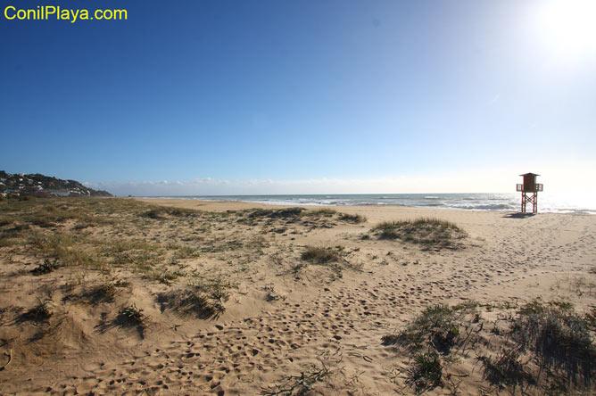 Vista de la playa de Zahara de los atunes desde el apartamento