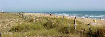Playa utilizada por naturistas