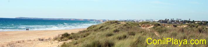 Vista del El Palmar desde la playa de la Mangueta.