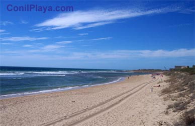 Vista de la playa de de Zahora.